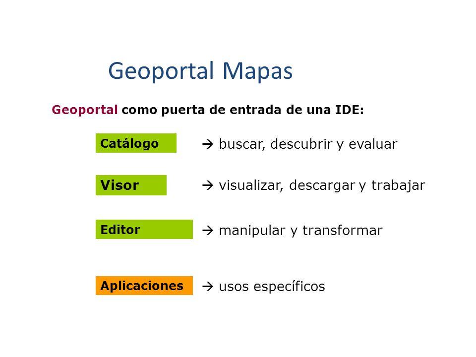 Geoportal Mapas  buscar, descubrir y evaluar Visor