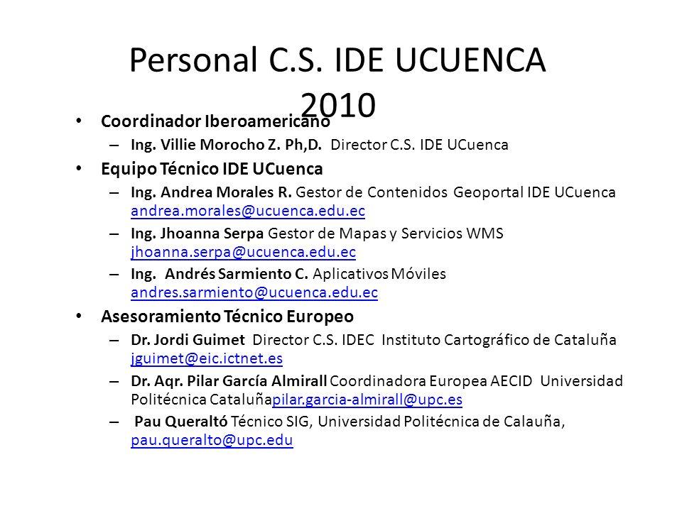 Personal C.S. IDE UCUENCA 2010