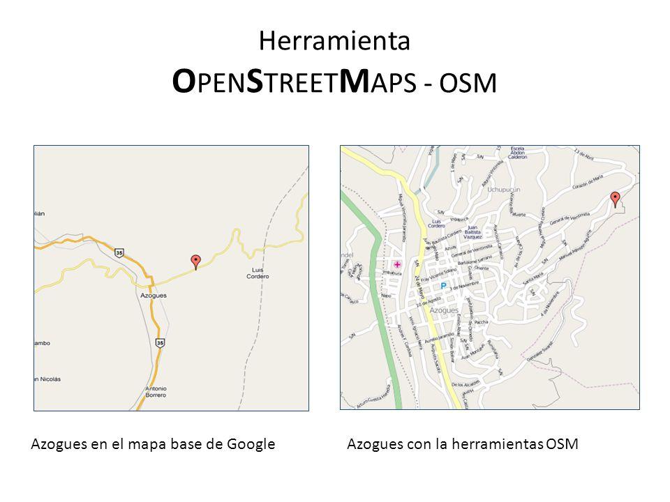 Herramienta OPENSTREETMAPS - OSM