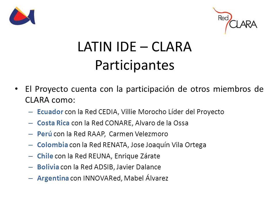 LATIN IDE – CLARA Participantes