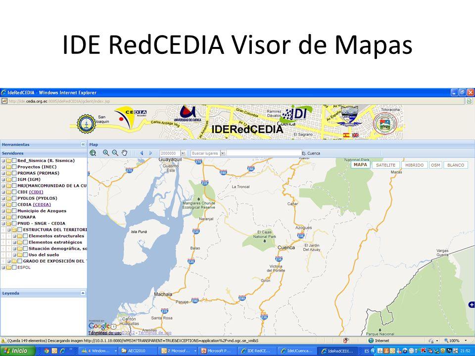IDE RedCEDIA Visor de Mapas