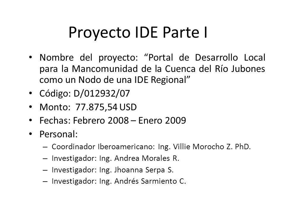 Proyecto IDE Parte I