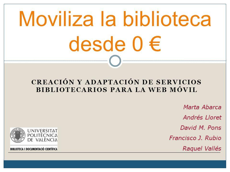Moviliza la biblioteca desde 0 €