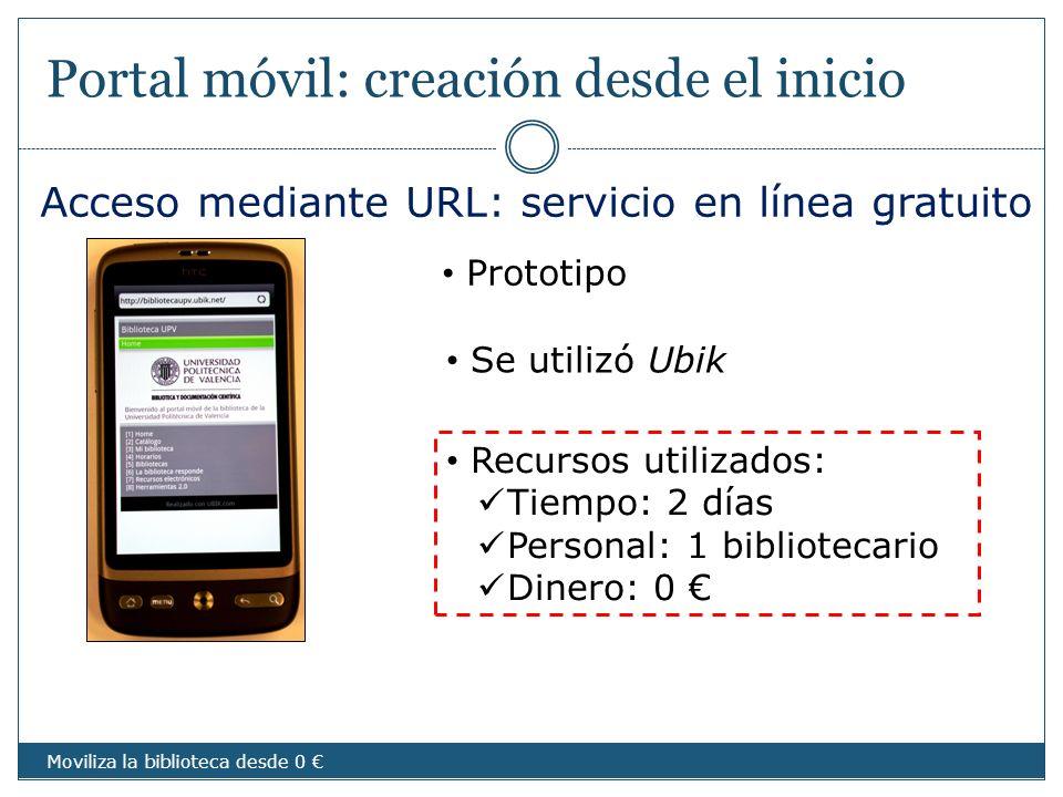 Portal móvil: creación desde el inicio