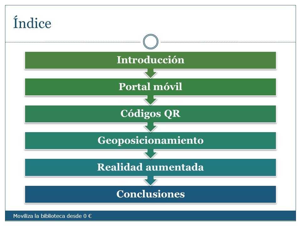 Índice Introducción Portal móvil Códigos QR Geoposicionamiento