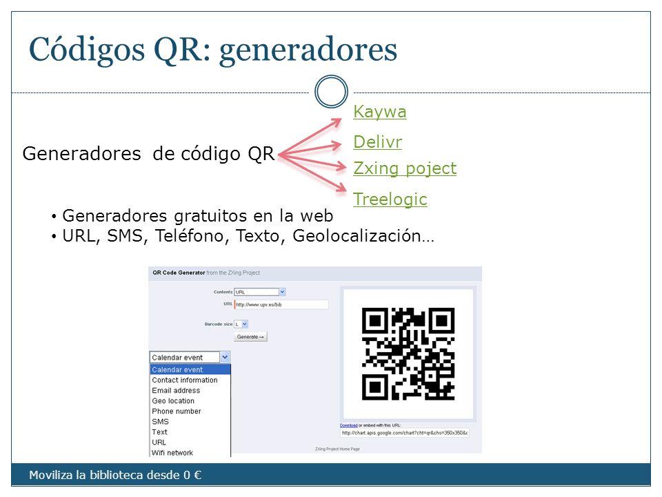 Códigos QR: generadores