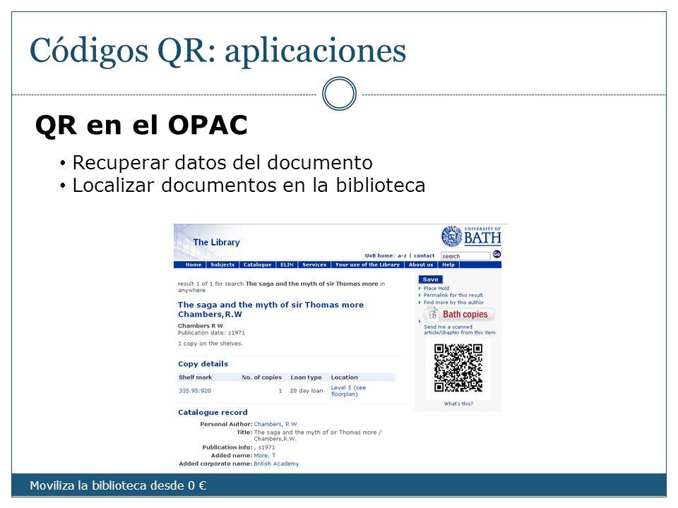 Códigos QR: aplicaciones
