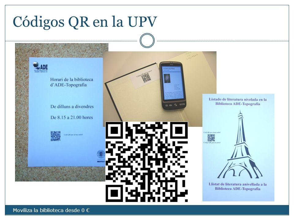 Códigos QR en la UPV imágenes Moviliza la biblioteca desde 0 €