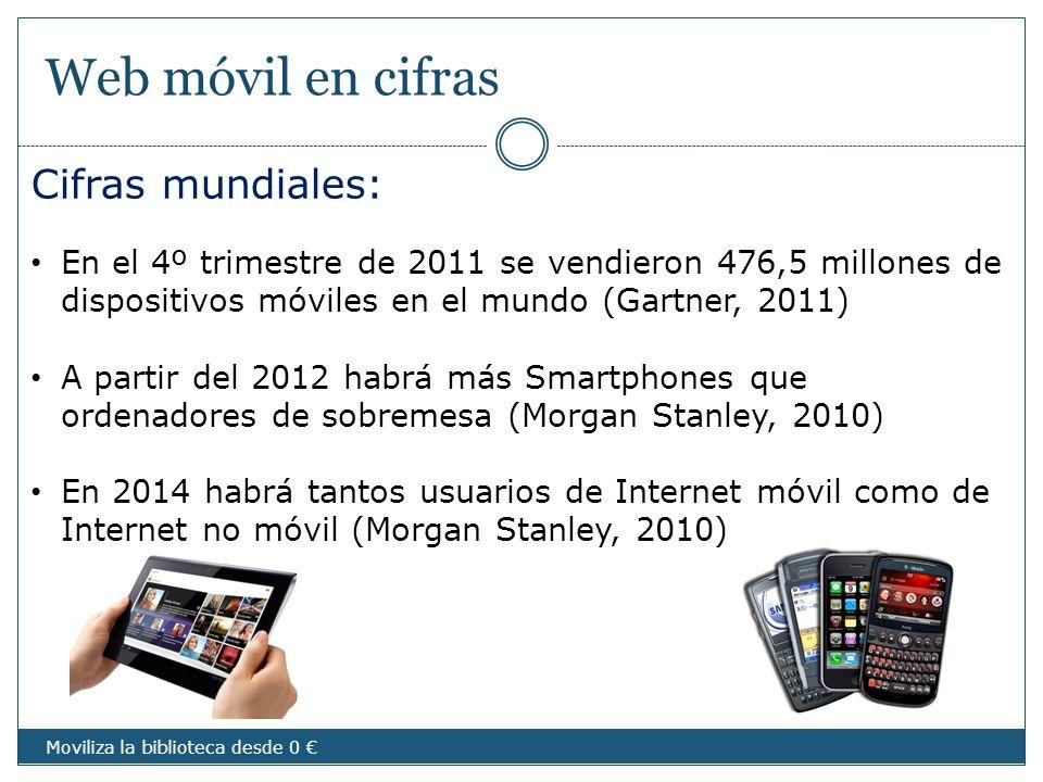 Web móvil en cifras Cifras mundiales: