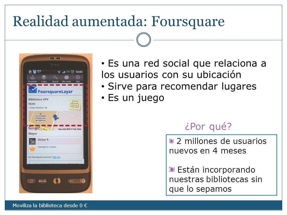 Realidad aumentada: Foursquare
