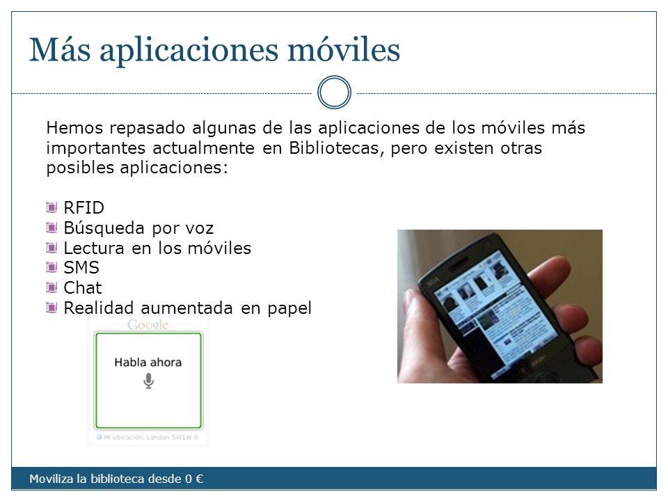 Más aplicaciones móviles