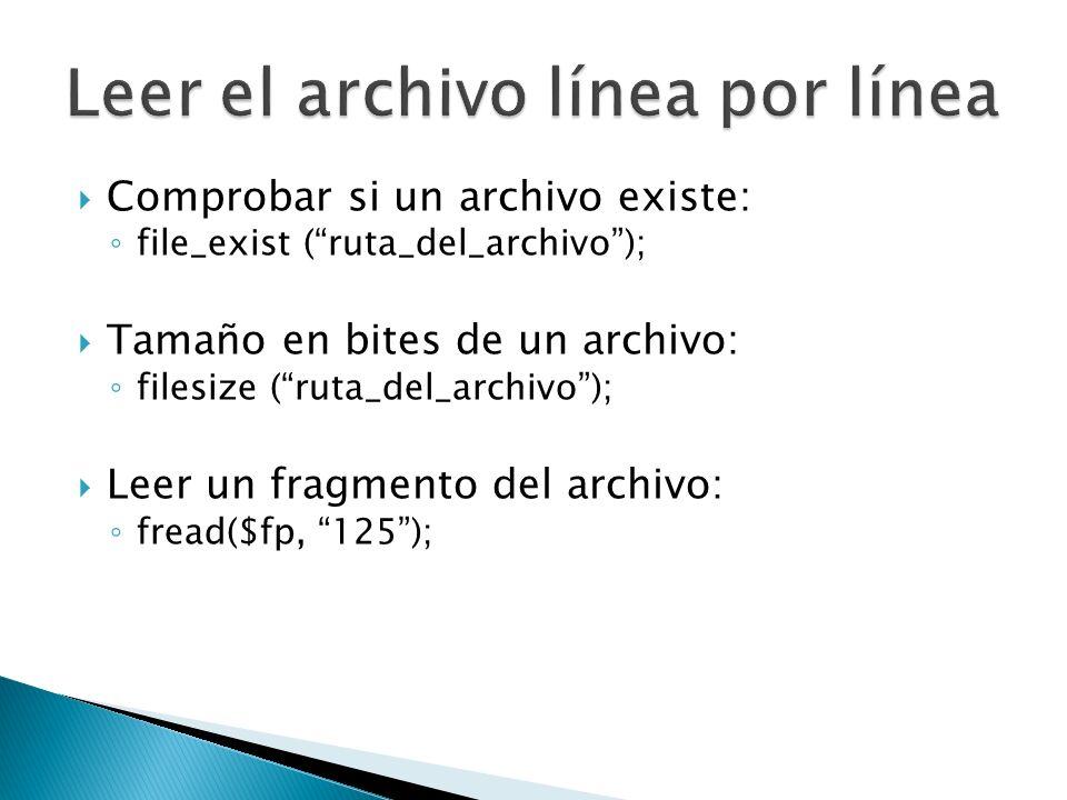 Leer el archivo línea por línea