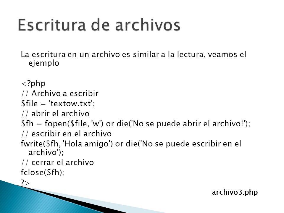Escritura de archivos