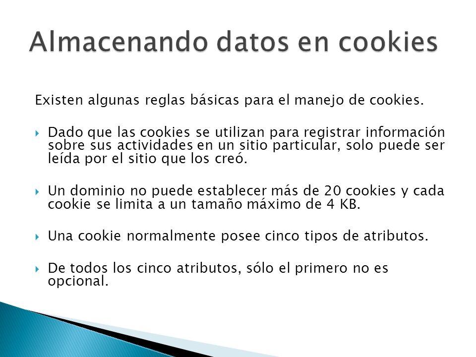 Almacenando datos en cookies