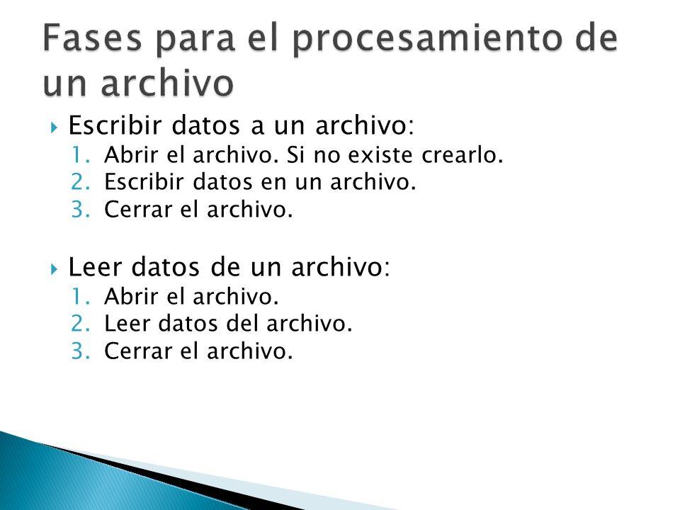 Fases para el procesamiento de un archivo