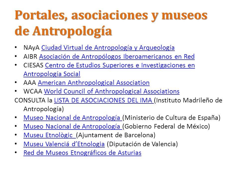 Portales, asociaciones y museos de Antropología