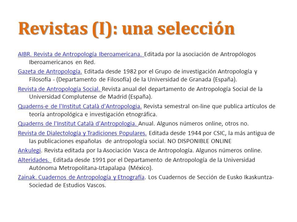 Revistas (I): una selección