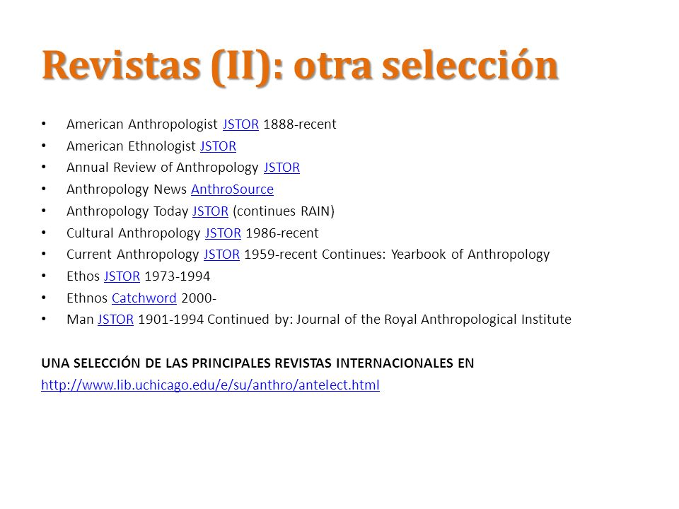 Revistas (II): otra selección