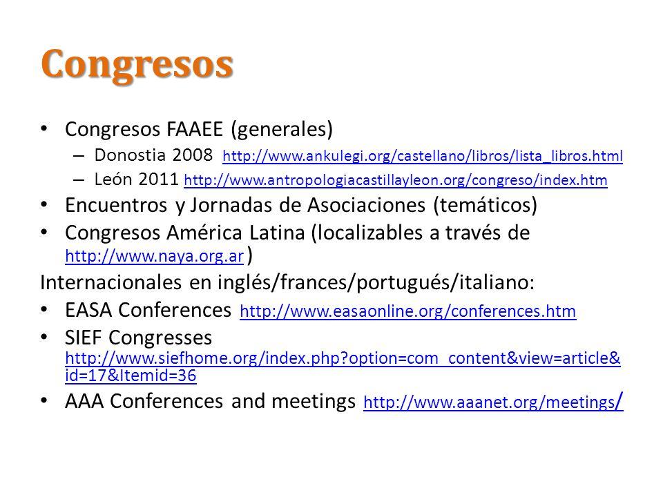 Congresos Congresos FAAEE (generales)