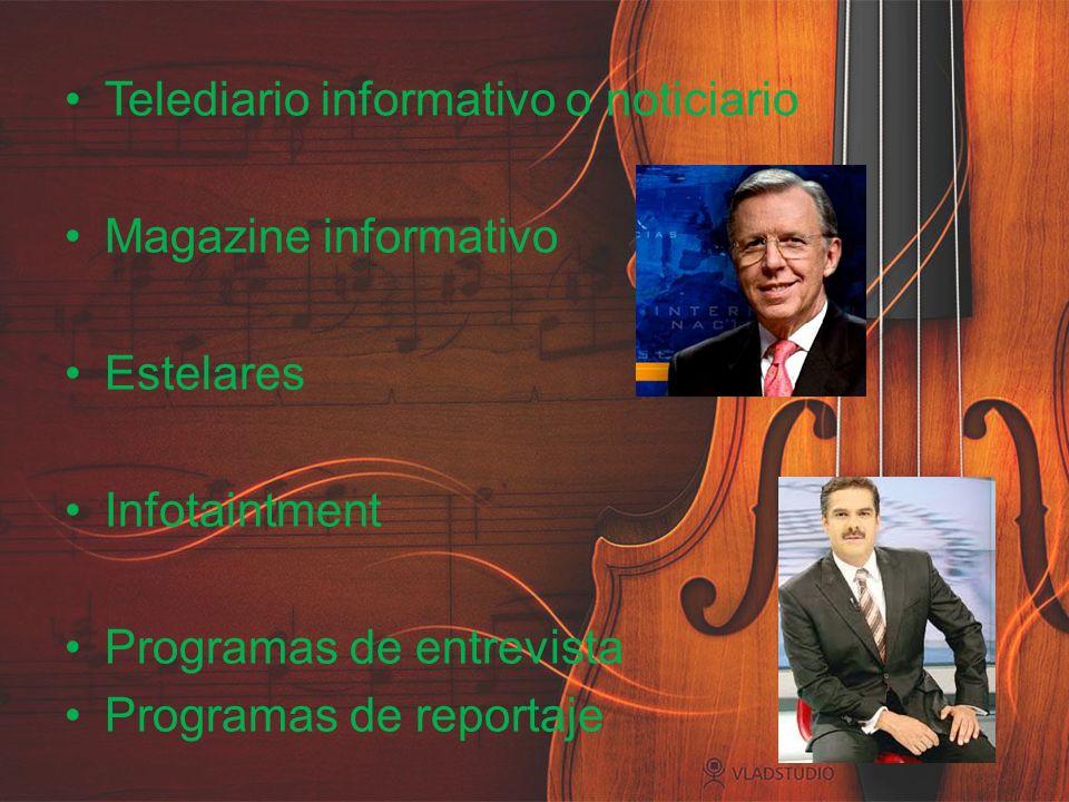 Telediario informativo o noticiario