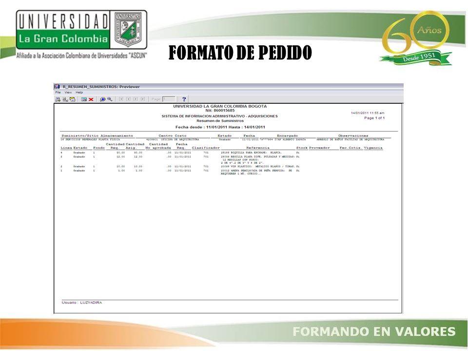 FORMATO DE PEDIDO