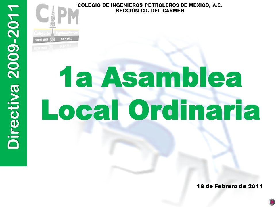 1a Asamblea Local Ordinaria 18 de Febrero de 2011