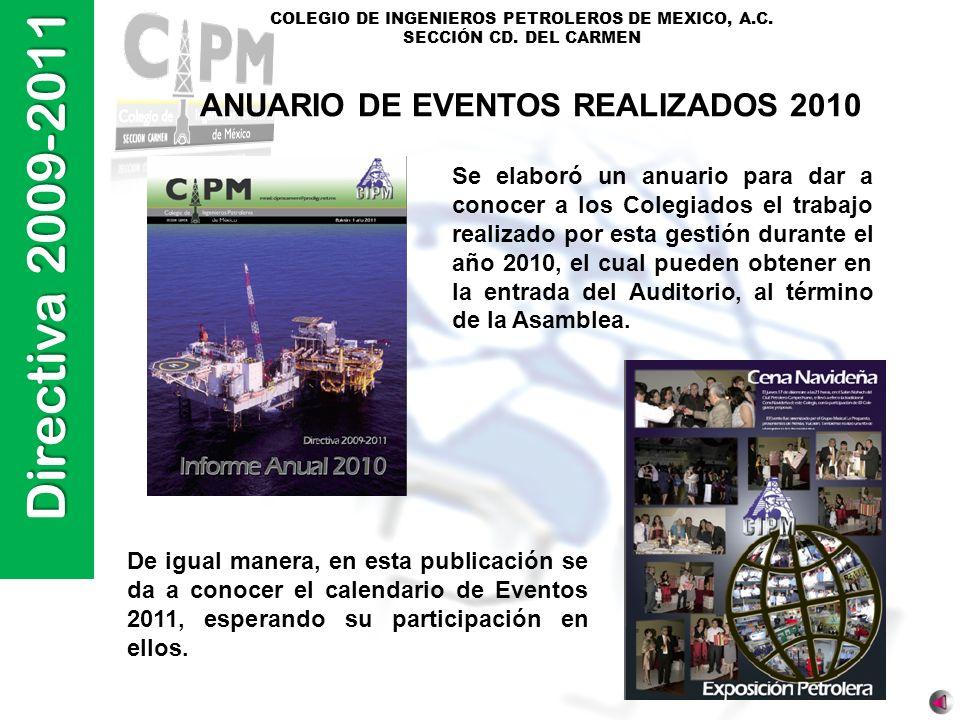 ANUARIO DE EVENTOS REALIZADOS 2010