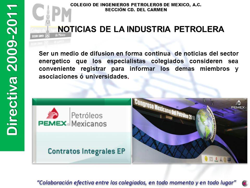 NOTICIAS DE LA INDUSTRIA PETROLERA