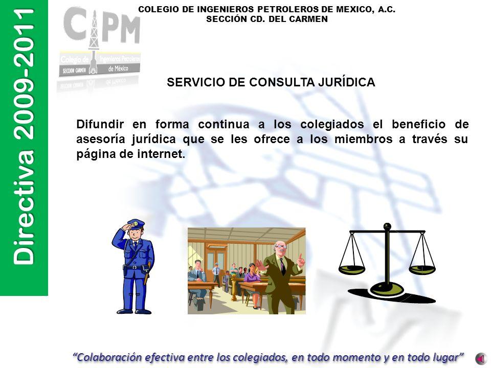 SERVICIO DE CONSULTA JURÍDICA