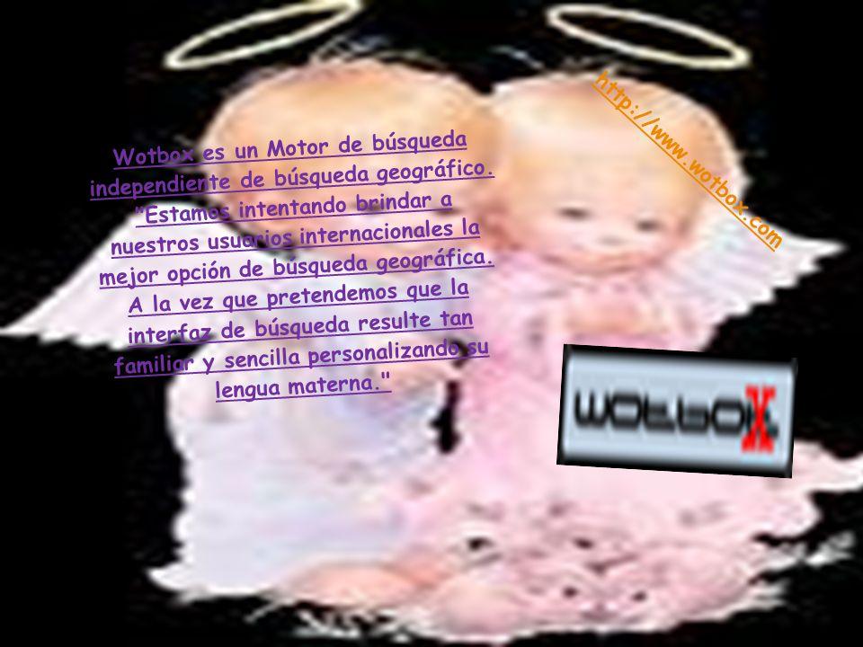 Wotbox es un Motor de búsqueda independiente de búsqueda geográfico