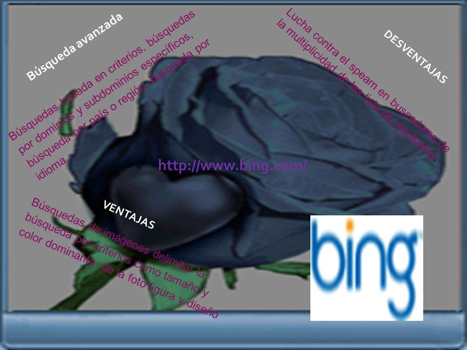 http://www.bing.com/ Búsqueda avanzada