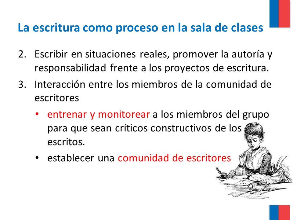La escritura como proceso en la sala de clases
