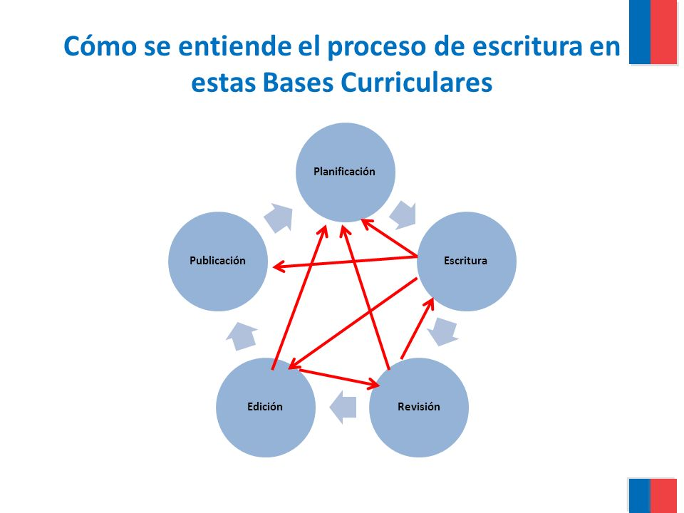 Cómo se entiende el proceso de escritura en estas Bases Curriculares
