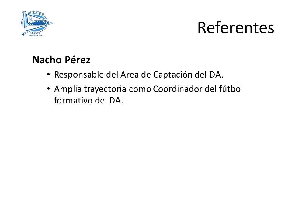 Referentes Nacho Pérez Responsable del Area de Captación del DA.