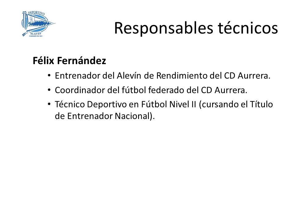 Responsables técnicos