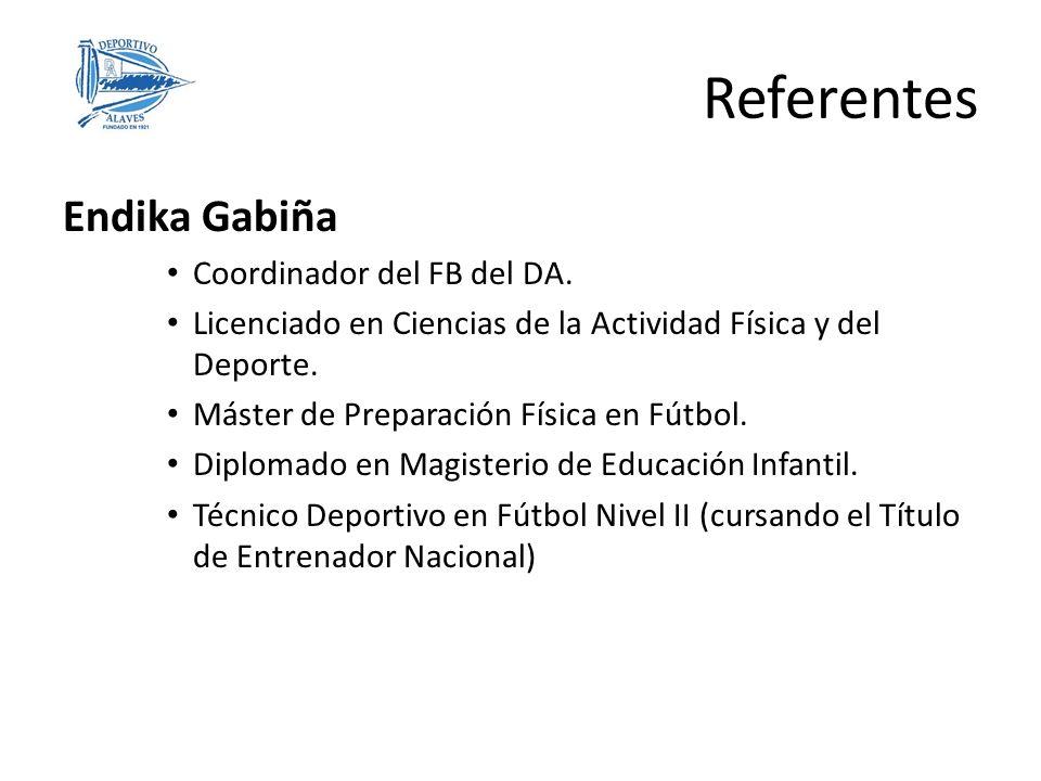 Referentes Endika Gabiña Coordinador del FB del DA.