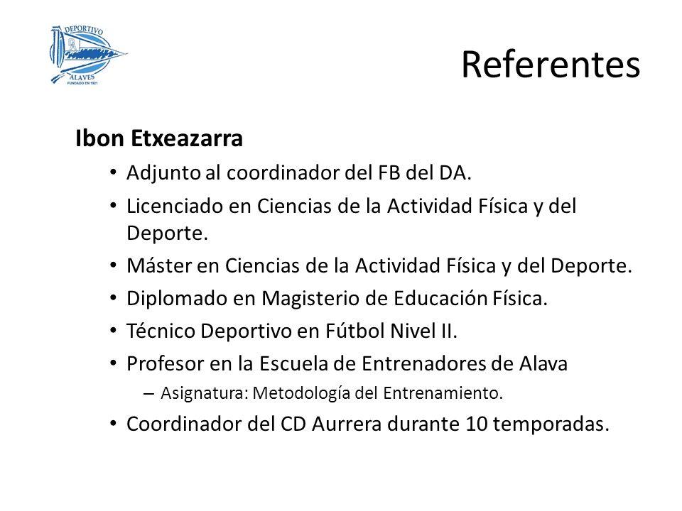 Referentes Ibon Etxeazarra Adjunto al coordinador del FB del DA.