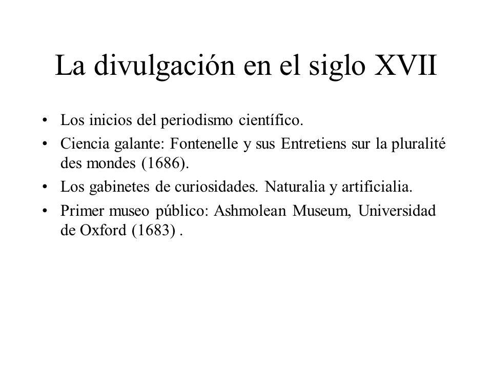 La divulgación en el siglo XVII