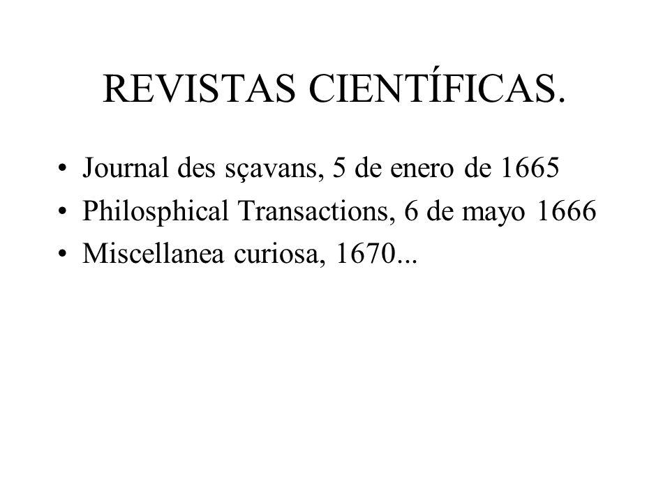 REVISTAS CIENTÍFICAS. Journal des sçavans, 5 de enero de 1665
