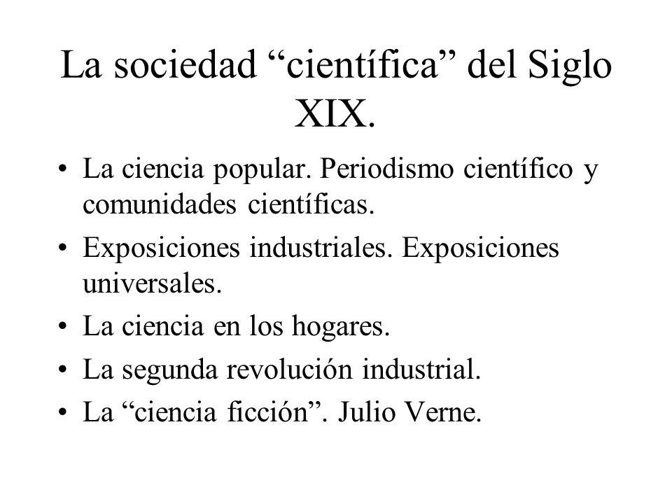 La sociedad científica del Siglo XIX.