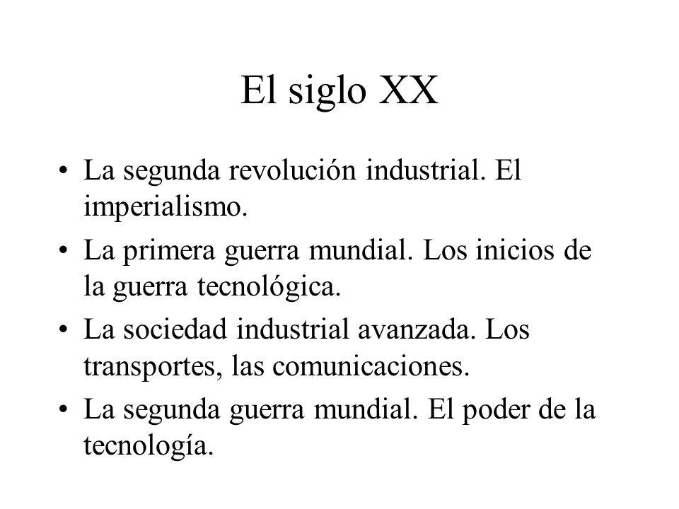 El siglo XX La segunda revolución industrial. El imperialismo.