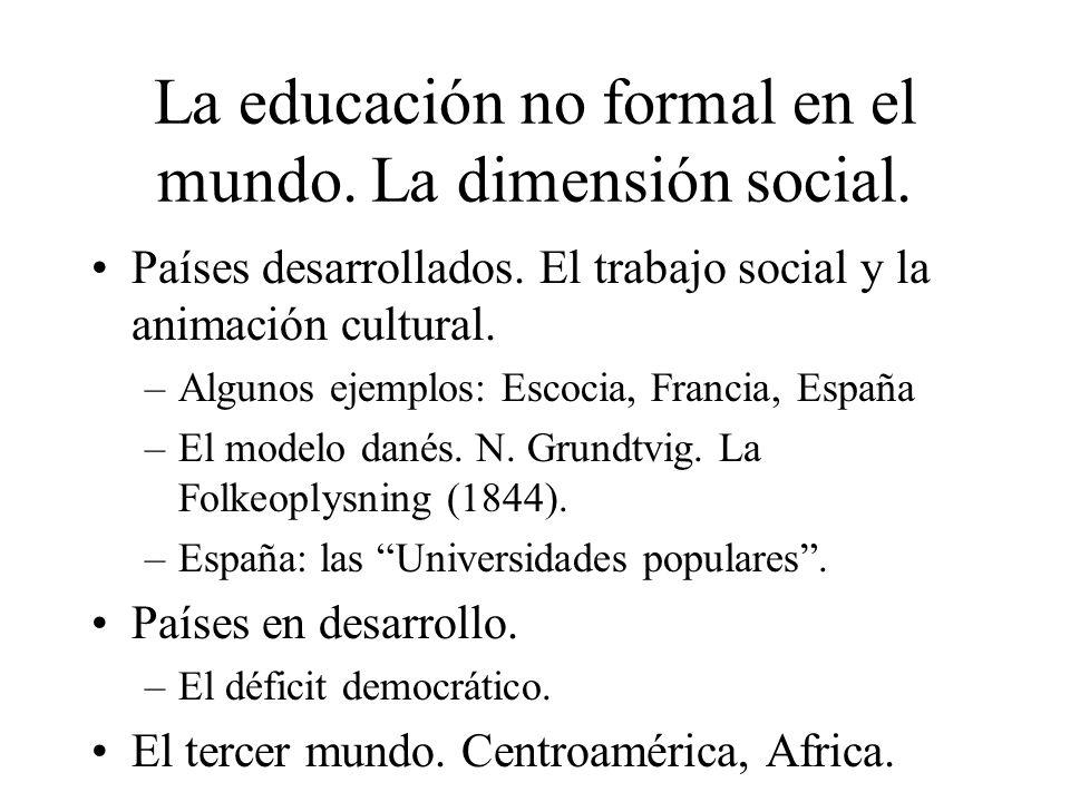 La educación no formal en el mundo. La dimensión social.
