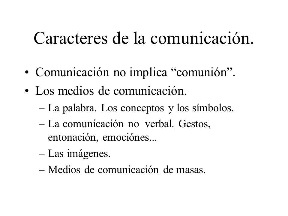 Caracteres de la comunicación.