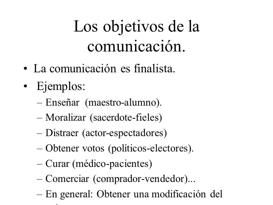 Los objetivos de la comunicación.