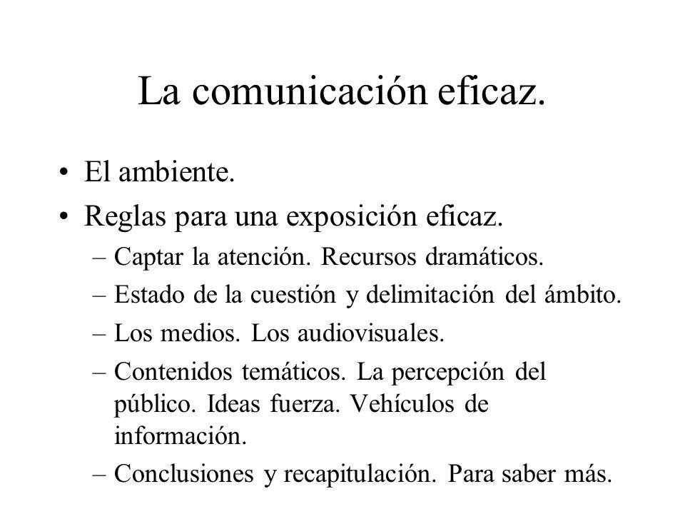 La comunicación eficaz.