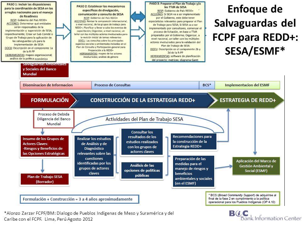 Enfoque de Salvaguardas del FCPF para REDD+: SESA/ESMF*