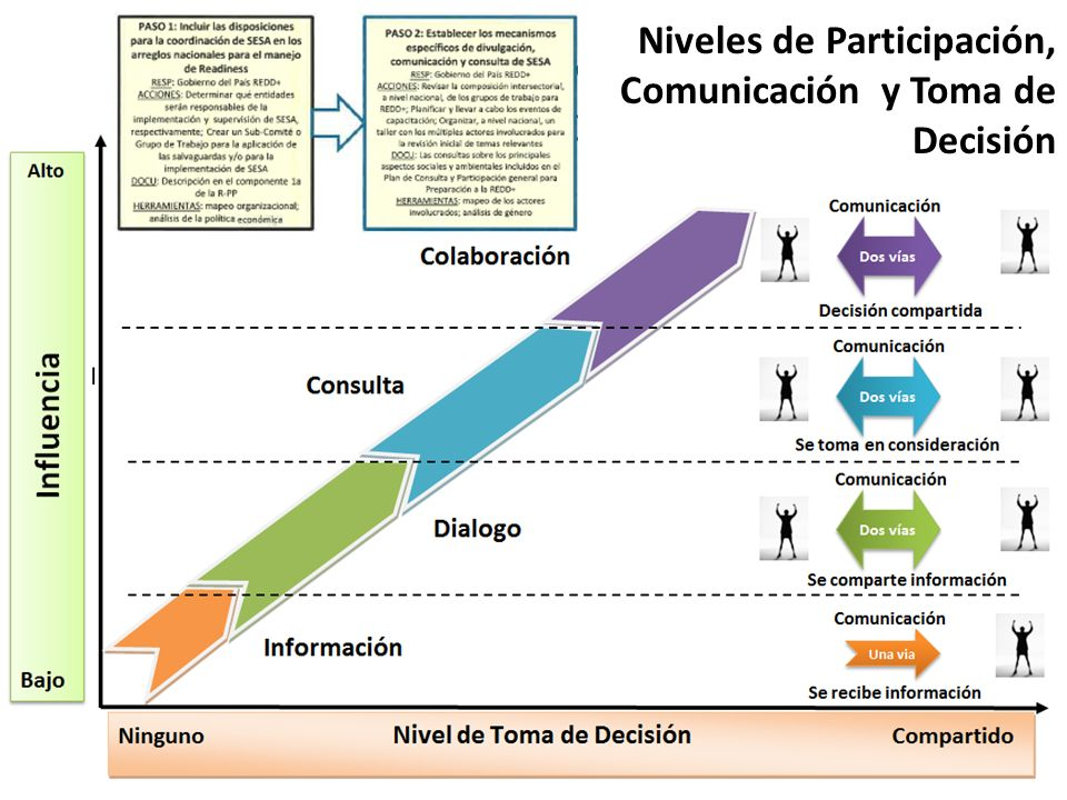 Niveles de Participación, Comunicación y Toma de Decisión