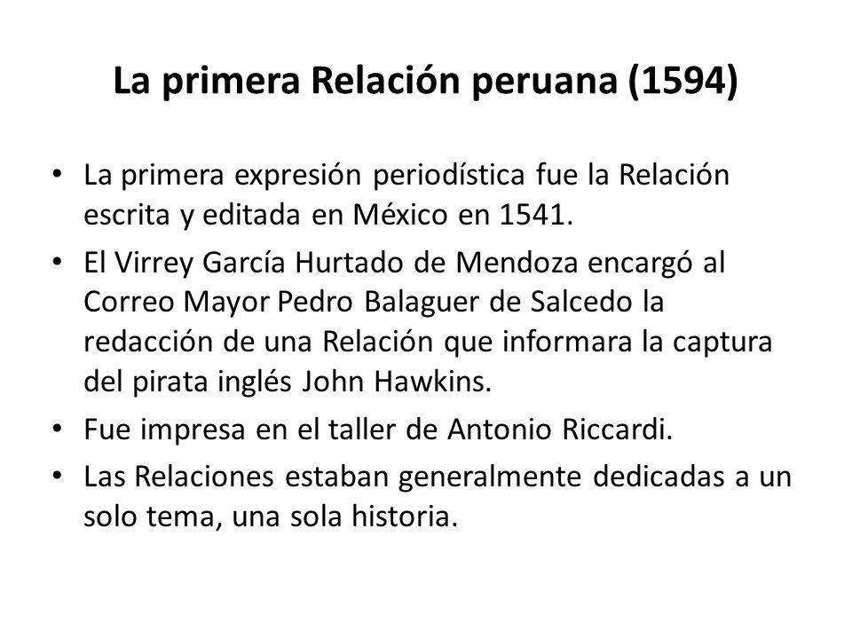 La primera Relación peruana (1594)
