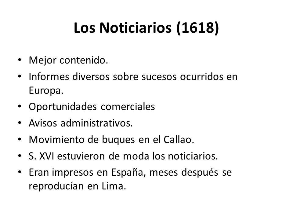 Los Noticiarios (1618) Mejor contenido.