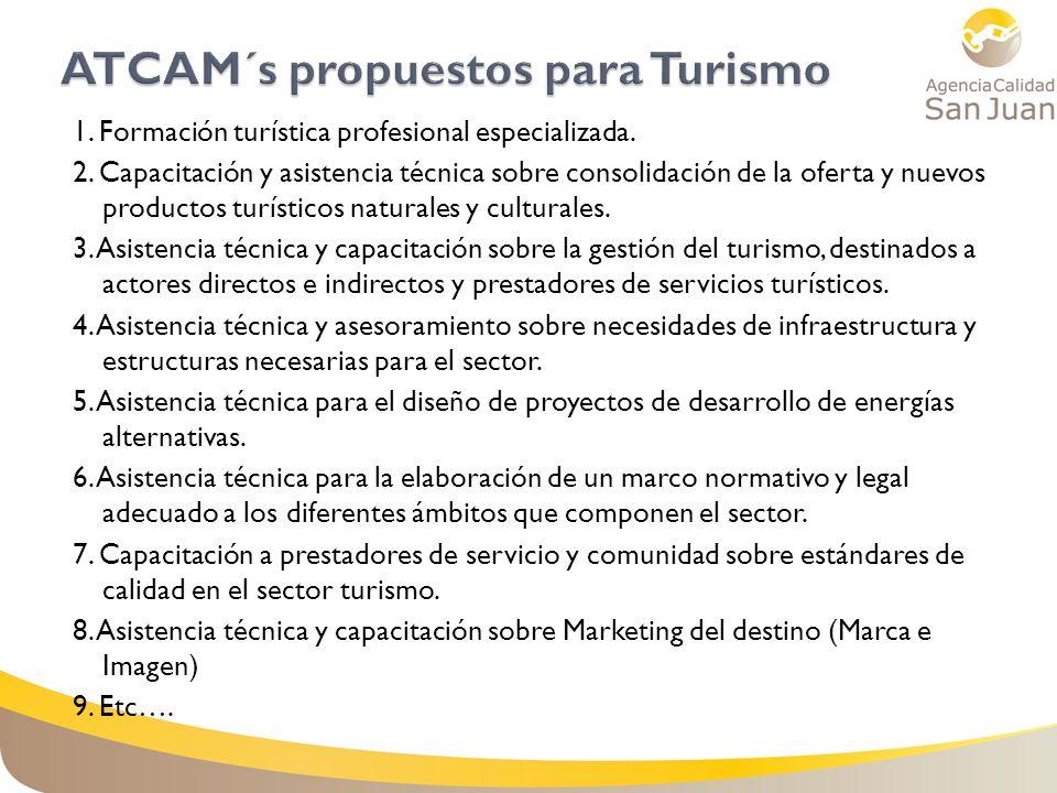 ATCAM´s propuestos para Turismo